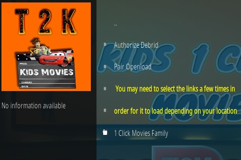 How To Install Kids 1-Click Movies Kodi Addon Overview