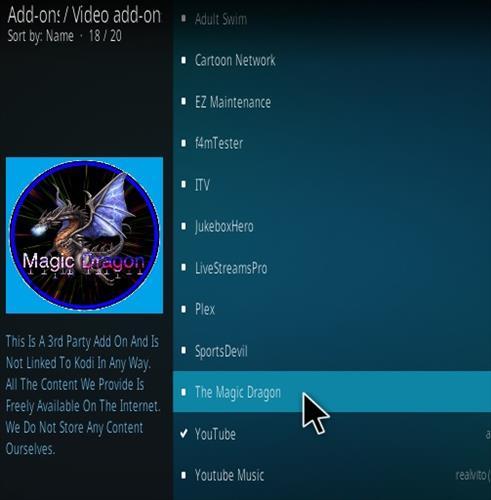 How To Install Magic Dragon Kosi Addon Mavrick TV Step 17