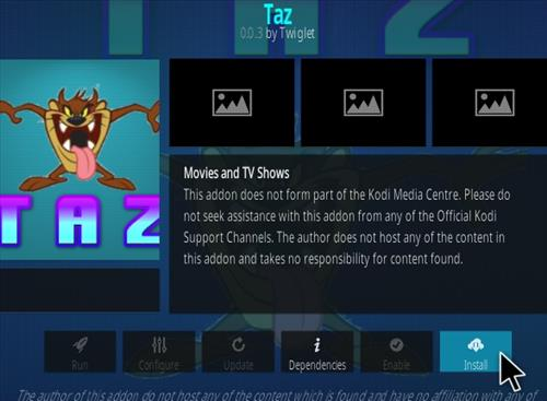 How To Install TAZ Kodi Addon Updated Step 18