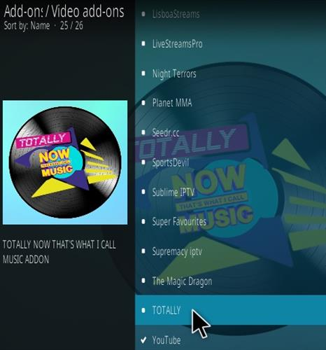 How To Install Totally Kodi Music Add-on Step 17