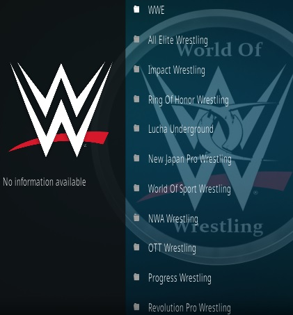 How To Install World of Wrestling Kodi Addon Update Overview