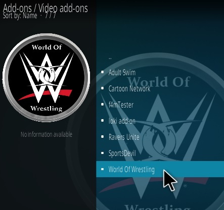 How To Install World of Wrestling Kodi Addon Update Step 17