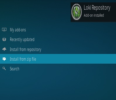 How to Install Loki Kodi Addon 2019 step 13