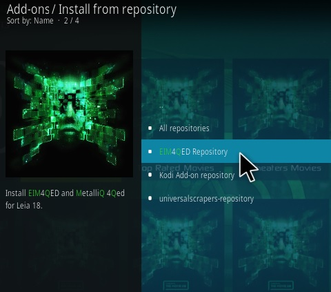How To Install 4QED Kodi Addon Step 15