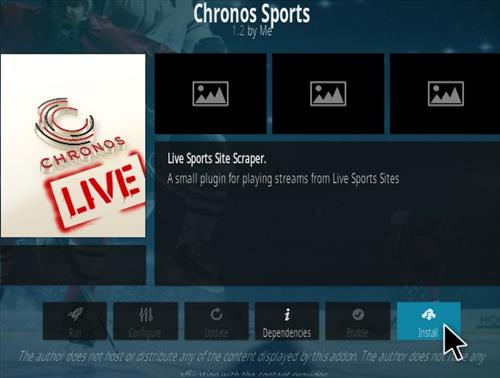 How To Install Chronos Live Sports Kodi Addon New Ver Step 18