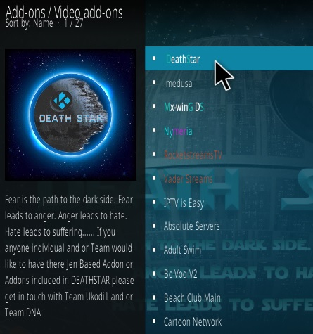How To Install DeathStar Kodi Addon Ezzer Step 17