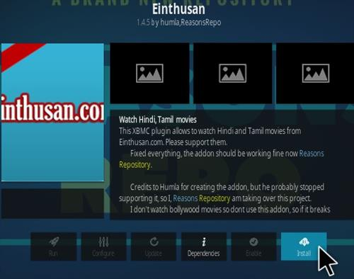 How To Install Einthusan Kodi Addon Step 18