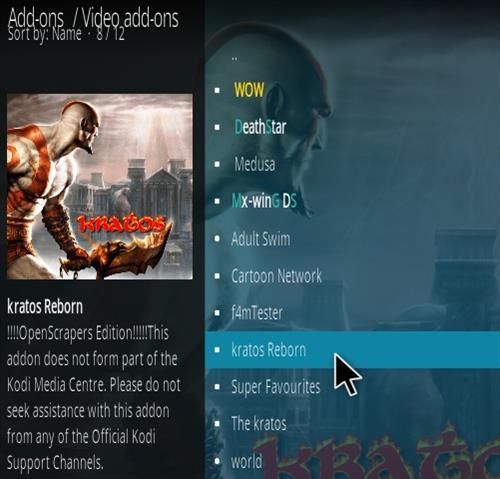 How To Install Kratos Reborn Kodi Addon Step 17