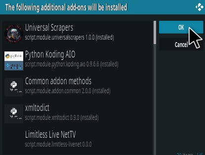 How To Install Limitless Kodi Addon Step 19