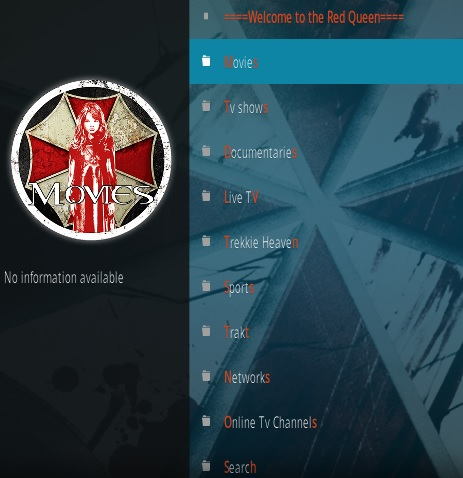 How To Install The Red Queen Kodi Addon Overview