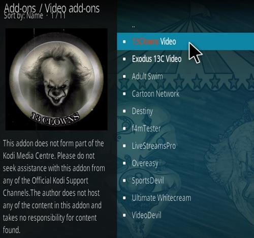 How To Install 13 Clowns Kodi Video Addon | WirelesSHack