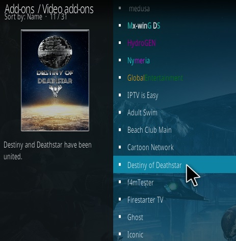 How To Install Destiny of Deathstar Kodi Addon Step 17