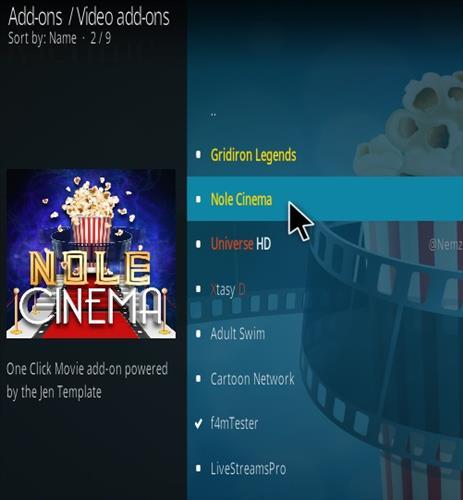 How To Install Nole Cinema Kodi Addon New 777 Step 17