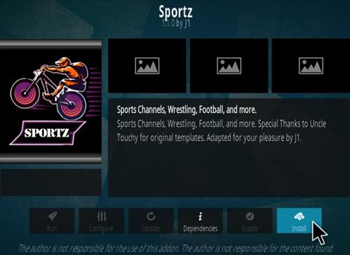 How To Install Sportz Kodi Addon Step 18