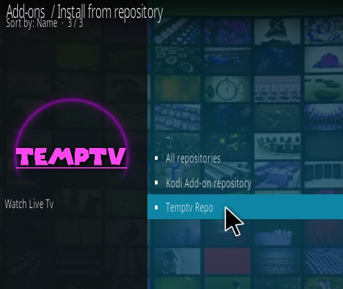 How To Install TEMPTV Kodi Addon Step 15