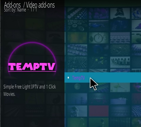 How To Install TEMPTV Kodi Addon Step 17