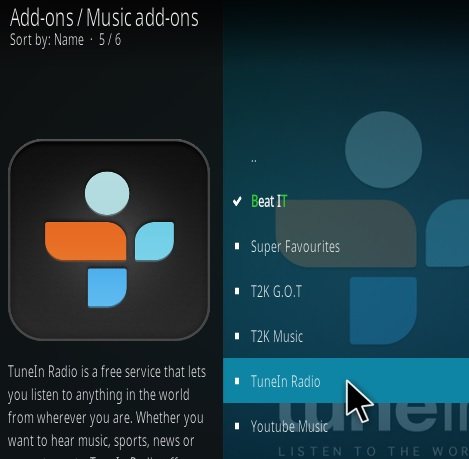 How To Install Tune In Radio Kodi Addon Step 17