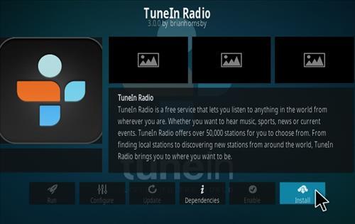 How To Install Tune In Radio Kodi Addon Step 18