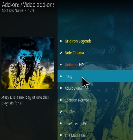 How To Install XTASY D Kodi Addon step 17