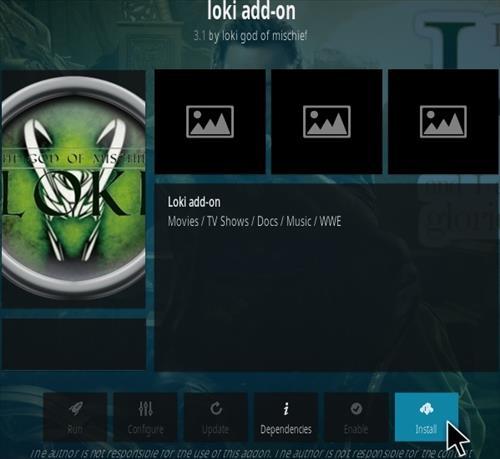 How to Install Loki Kodi Addon Updated Step 18