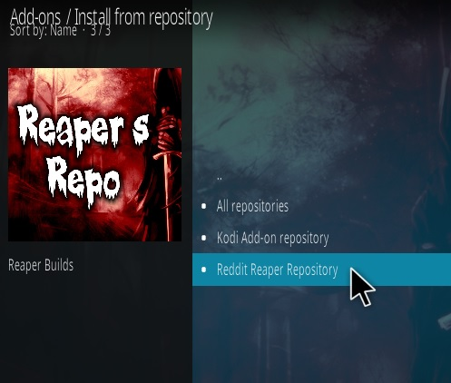 How To Install Reaper Wizard Builds Kodi Add-on Step 15