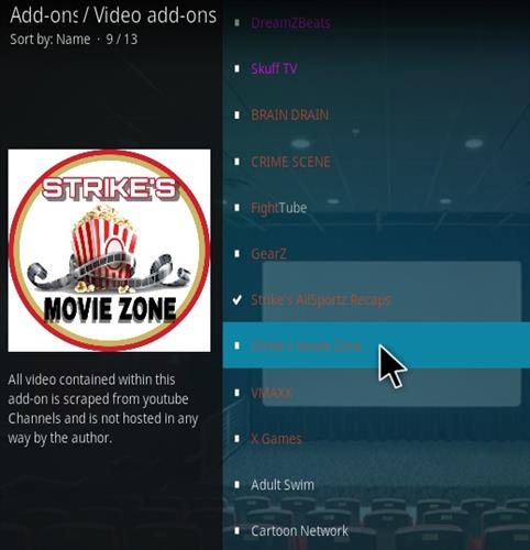 How To Install Strike's Movie Zone Kodi Addon Updated Step 17