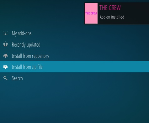 How To Install The Crew Kodi Addon Step 13