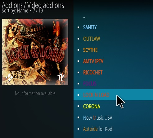 How to Install Lock and Load Kodi Addon Updated Step 17