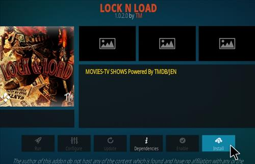 How to Install Lock and Load Kodi Addon Updated Step 18