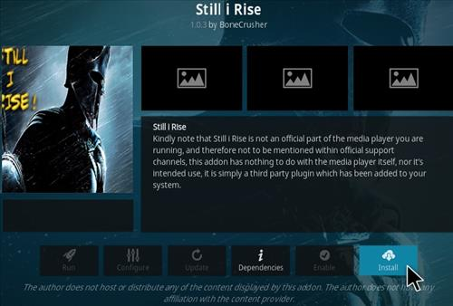 How to Install Still I Rise Kodi Add-on Step 18