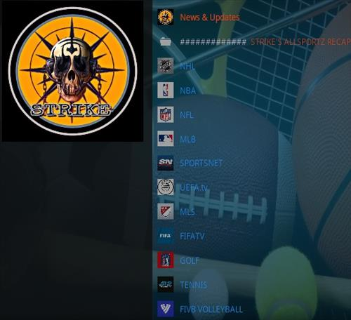 How to Install Strike's AllSportz Recaps Kodi Add-on Updated Overview
