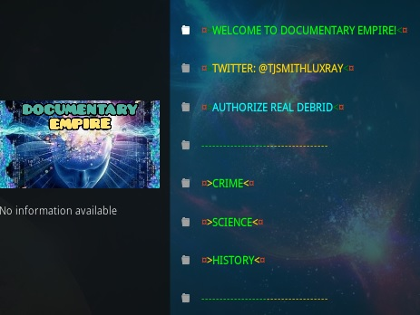 How To Install Documentary Empire Kodi Overview