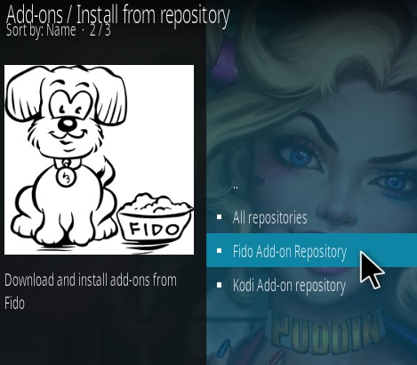 How To Install Fido Video Kodi Add-on Step 15