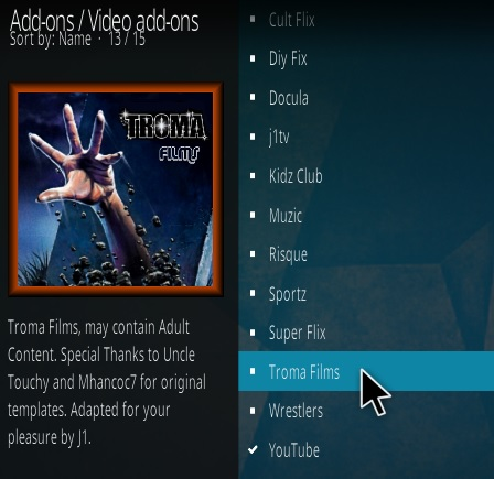 How To Install Troma Films Kodi Addon Step 17