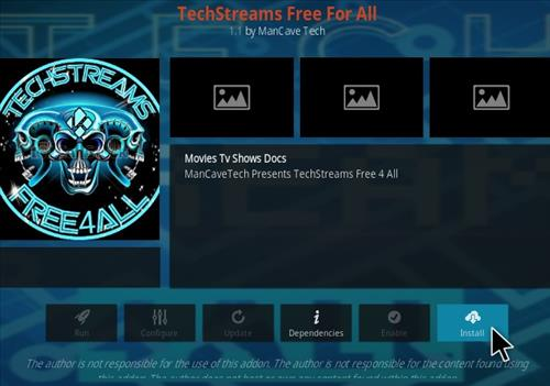 How to Install TechStreams Free For All Kodi Addon Step 18