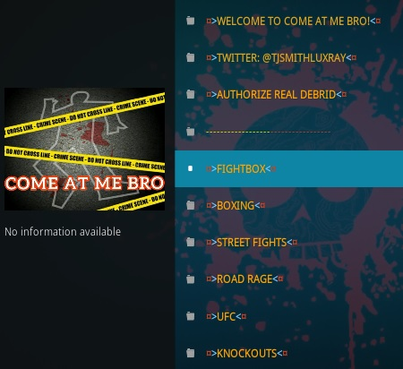 How To Install Come At Me Bro Kodi Addon Overview