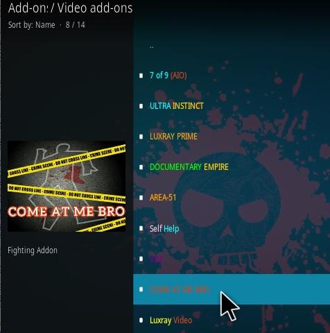 How To Install Come At Me Bro Kodi Addon Step 17