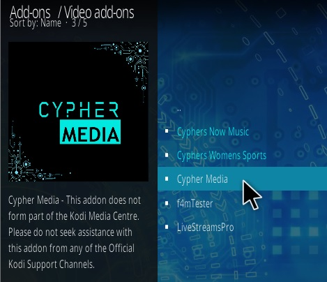 How To Install Cypher Media Kodi Addon Step 17