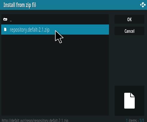 How To Install Defalt Kodi Addon Step 12