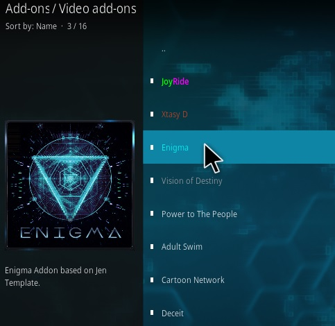 How To Install Enigma Kodi Addon Step 17