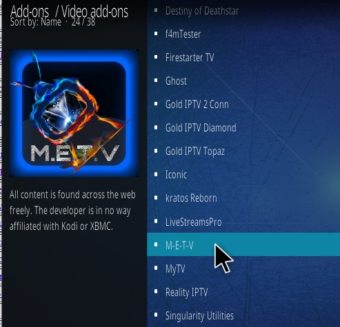 How To Install METV Kodi Addon Update Step 17