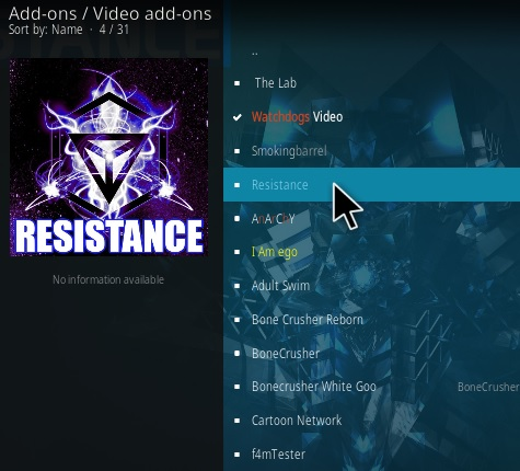 How To Install Resistance Kodi Addon Update 9 Step 17