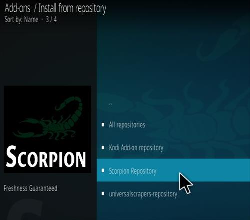 How To Install Scorpion Kodi Addon New URL Step 16
