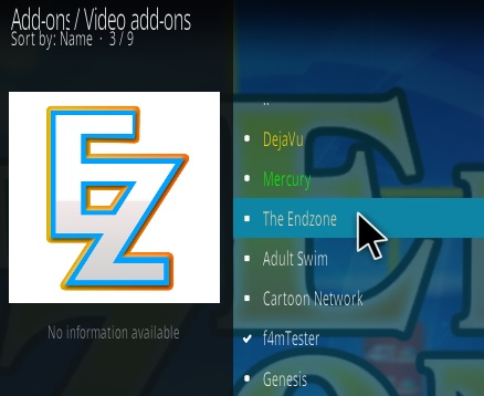 How To Install The End Zone Kodi Addon Step 18