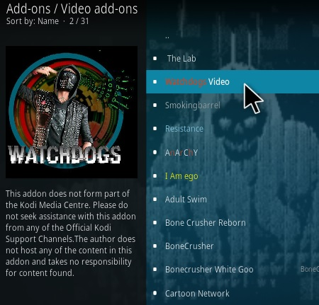 How To Install Watchdogs Video Kodi Addon Update Step 17