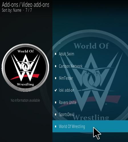 How To Install World of Wrestling Kodi Addon Update Step 17