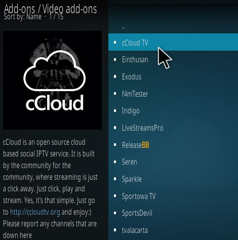 How to Install cCloud Live TV Kodi Addon Update 7 Step 17