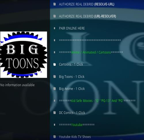 How To Install Big Toons Kodi Addon Overview