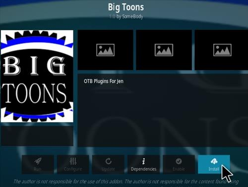 How To Install Big Toons Kodi Addon Step 19