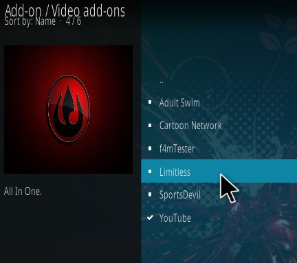 How To Install Limitless Kodi Addon Upastes V43 Step 17